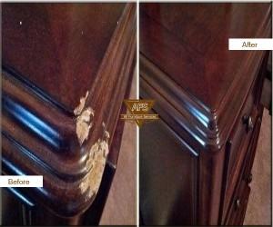 Dresser-Top-Corner-Gouge-Shape-Restoration-Fill-in